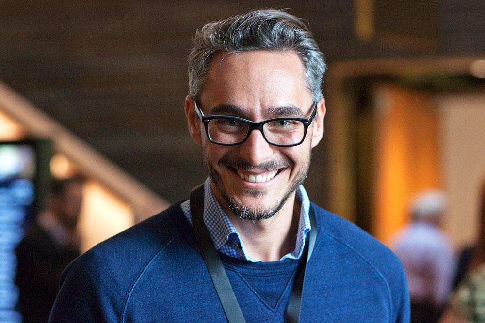 Tony Spodnjak, affärsutvecklare på Packbridge, talade om öppen innovationskraft i sin och vd Johan Mårtenssons presentation.