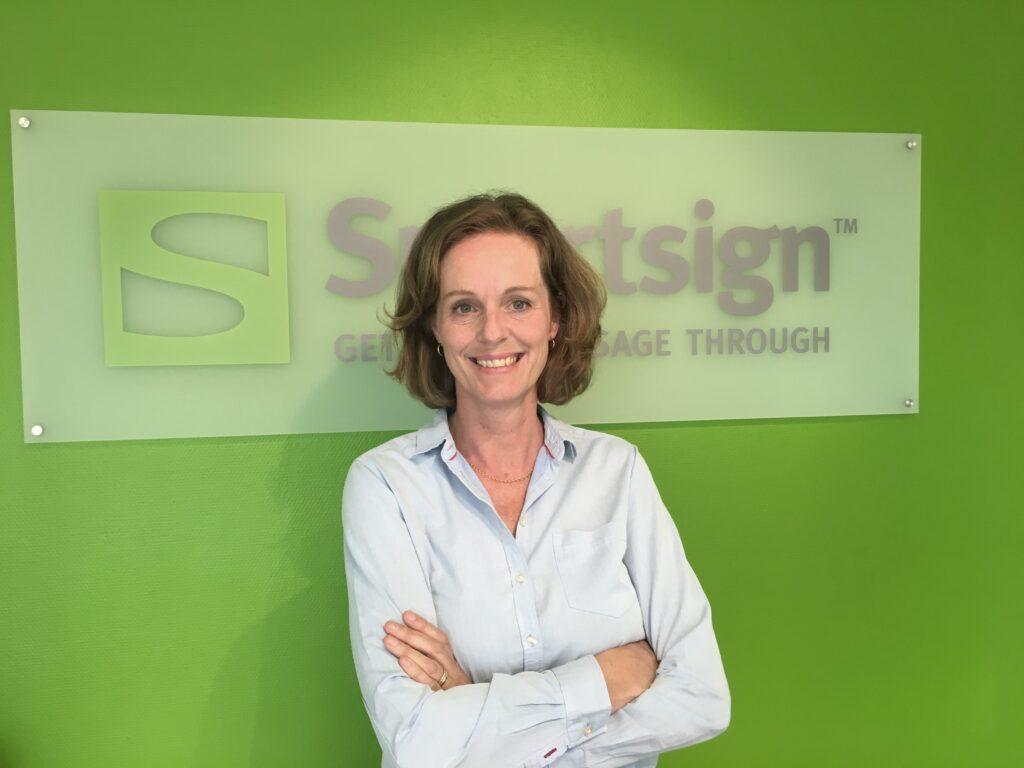 Maria Dahlström, tillförordnad vd på Smartsign sedan mars 2019.