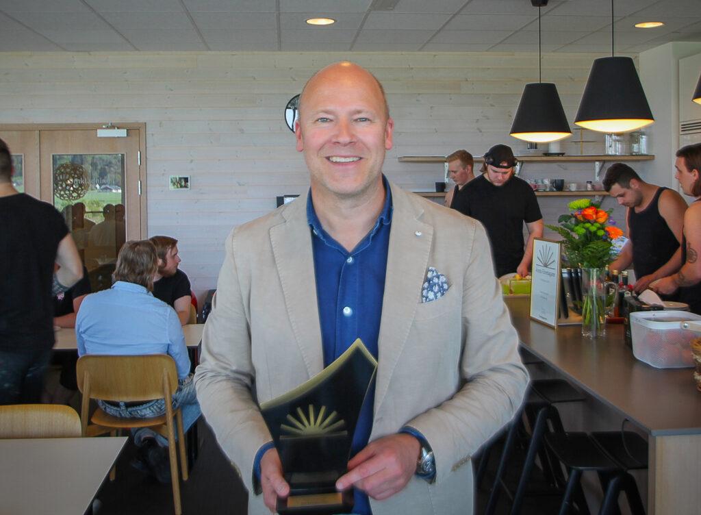 Fredrik Skanselid, vd på Hot Screen tog nyligen emot priset som årets företagare i Kungsbacka 2019.