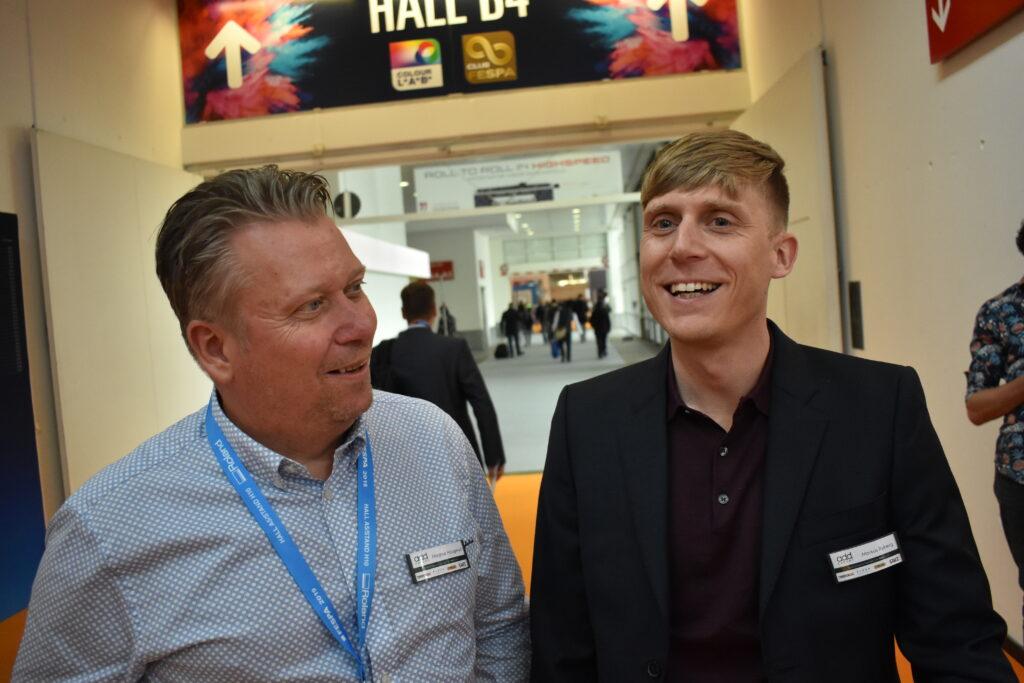Magnus Haugegård och Markus Ryberg på Addexport får tillskott med material och skrivare i 3d-segmentet.