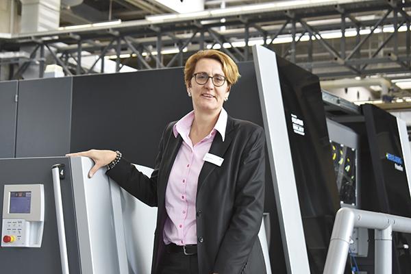 Kerstin Haase, ansvarig för Heidelbergs förpackningssegment.