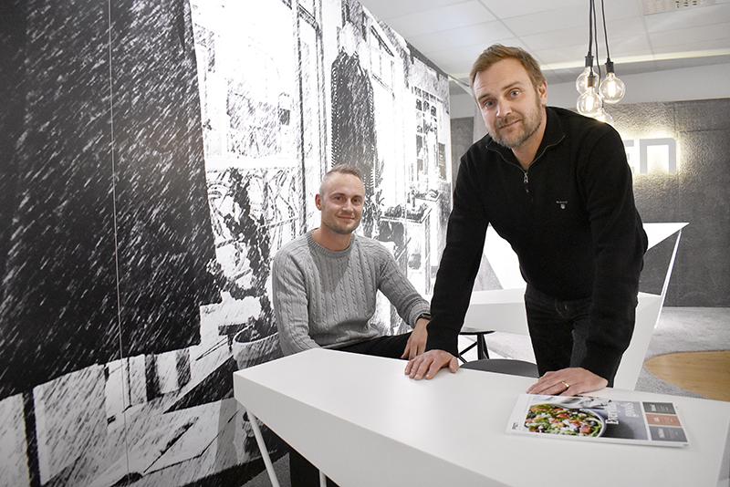 Patrick Sylvander och Patrik Johansson på PEN Interiör.