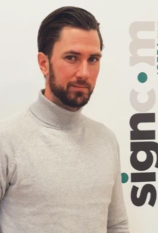 Chris Olsson anställs som key account manager på Signcom.