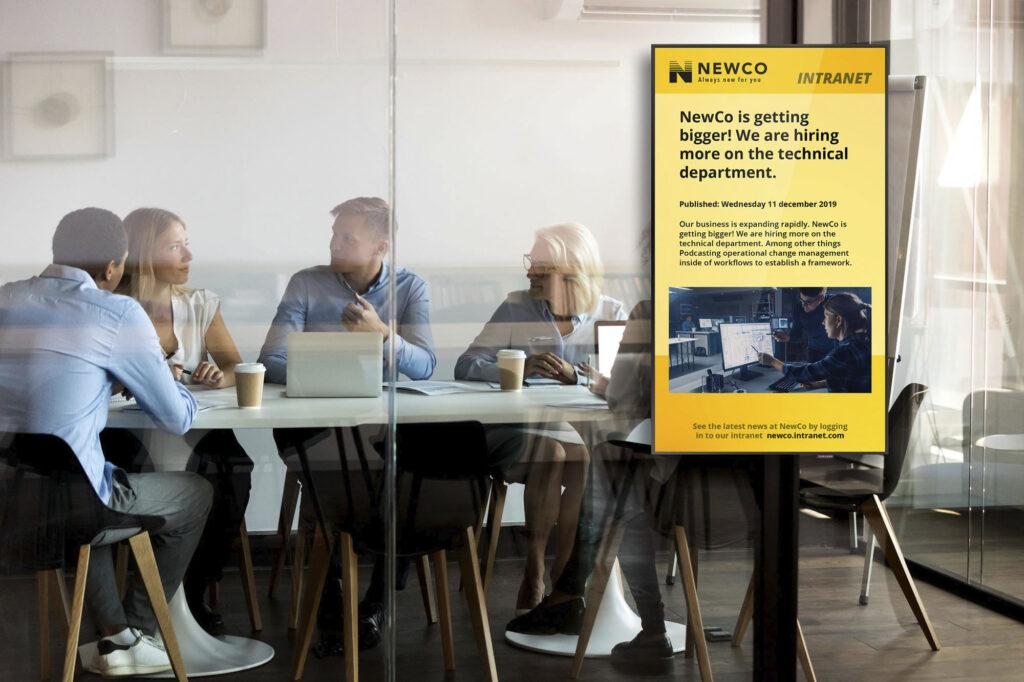 Smartsign vill att deras programvara ska bidra till nya sätt att kommunicera internt på företagen.