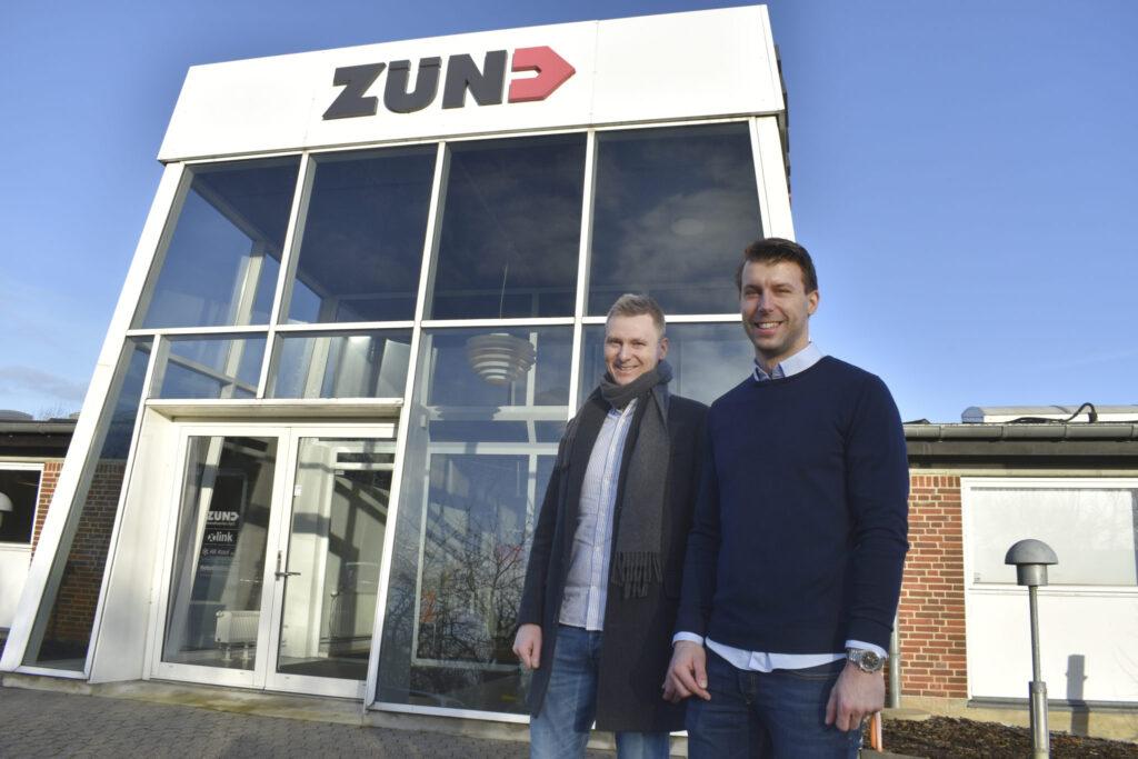 Vd:n Jacob Hansen och marknadsansvarige Martin Roed i Zünd Skandinavien.