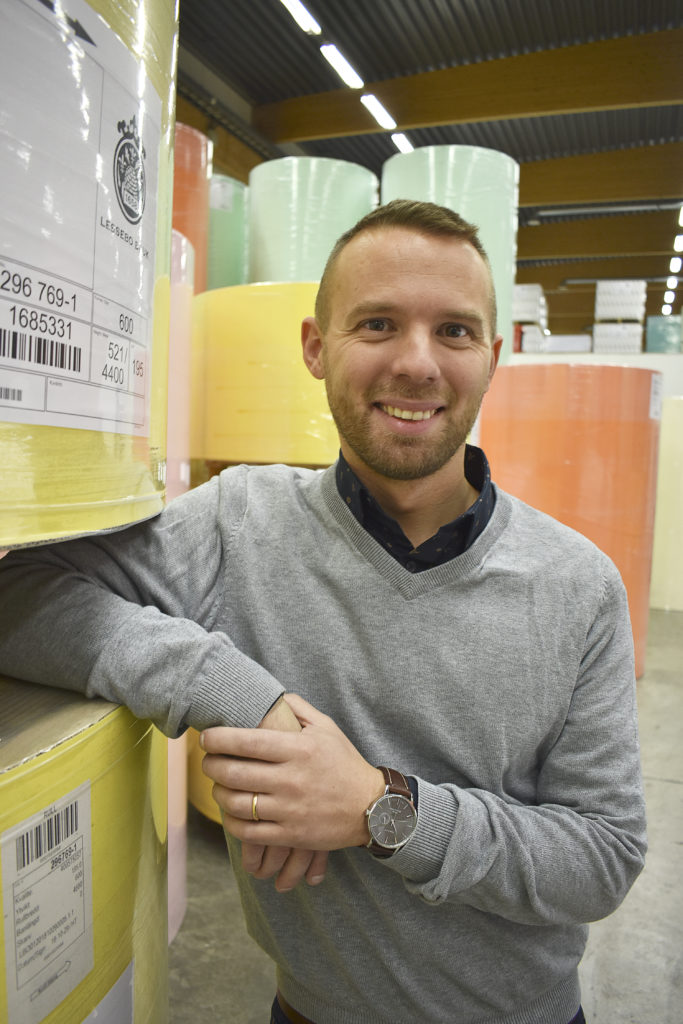 Eric Sigurdsson, vd på Lessebo Paper. Foto: Claes Nordström