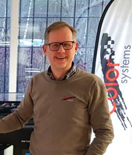 Magnus Edfeldt, sälj- och marknadsansvarig på Color Systems.