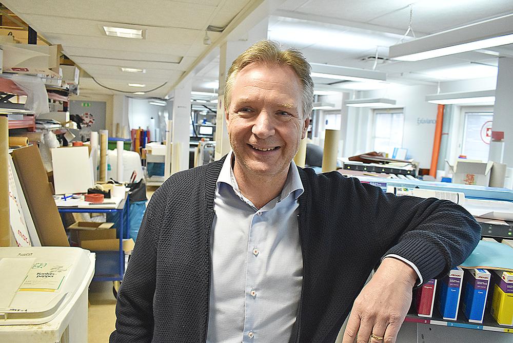 Jörgen Victor, vd för Printhuset Electra.