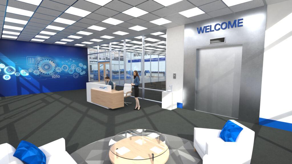 Müller Martinis digitala showroom öppnar den 30 november och kommer därefter kunna besökas dygnet runt årets alla dagar, skriver företaget i ett pressmeddelande. Foto: Müller Martini